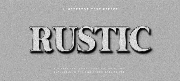 Effet de police de style texte argenté texture rustique