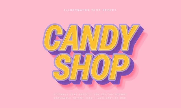 Effet de police de style de texte candy kids