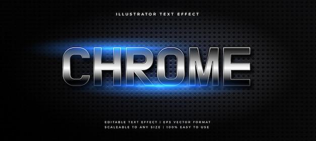 Effet de police de style de texte chrome brillant