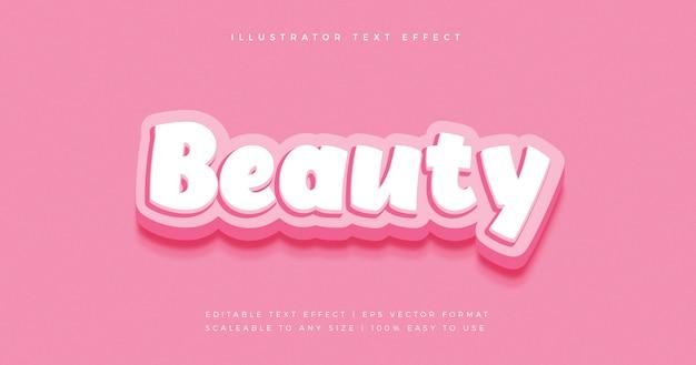 Effet de police de style de texte de dessin animé ludique de beauté