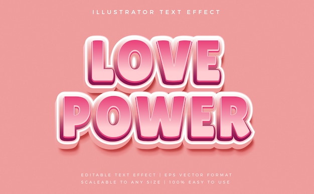 Effet de police de style de texte power love