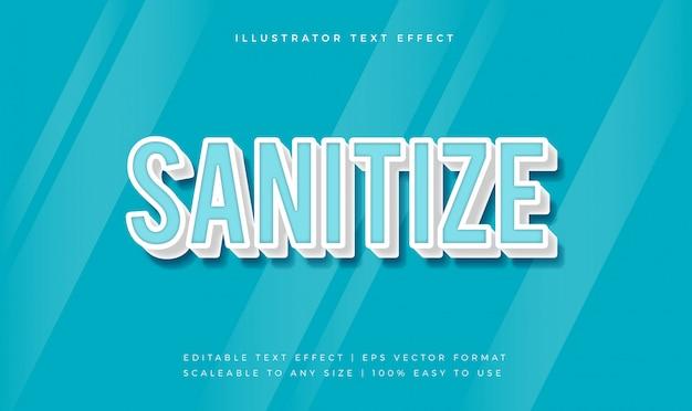Effet de police de style de texte sain blue sanitize