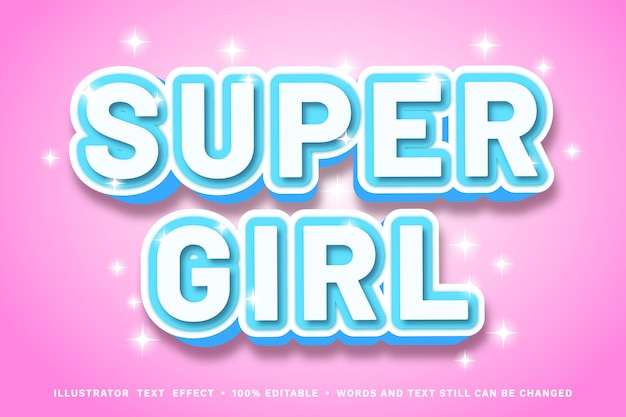 Effet de police super girl