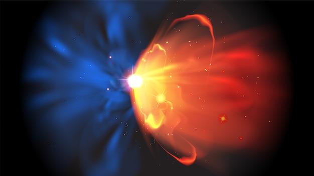 Effet de quasar abstrait en vecteur