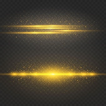 Effet spatial doré