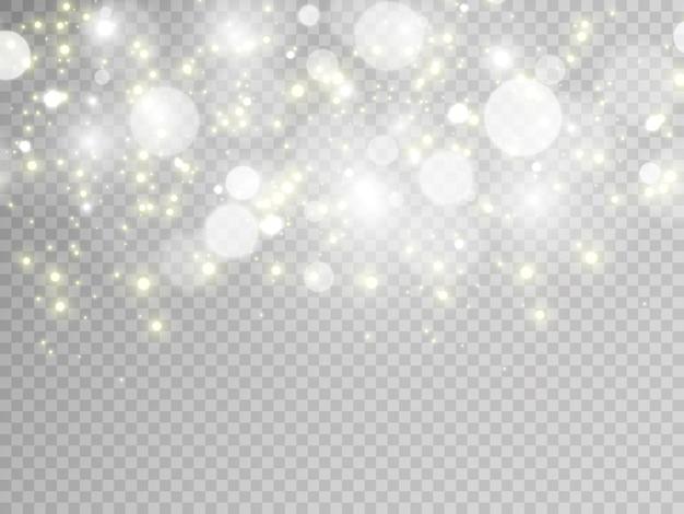 Effet spécial flash léger sur fond transparent