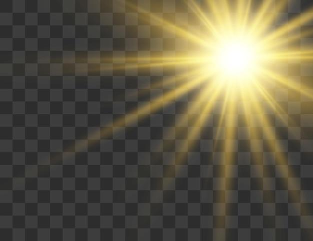 Effet spécial lumière flare