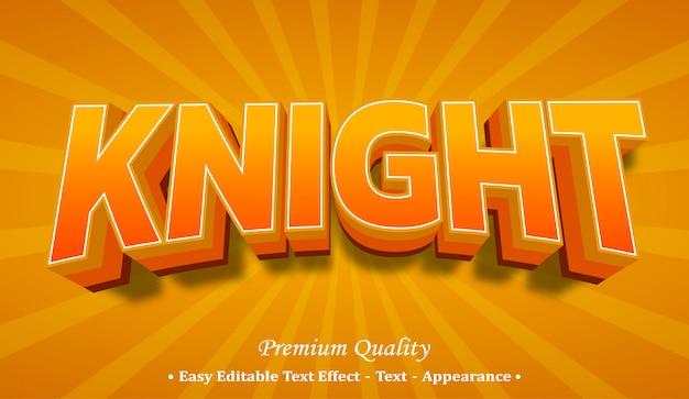 Effet de style de police 3d knight