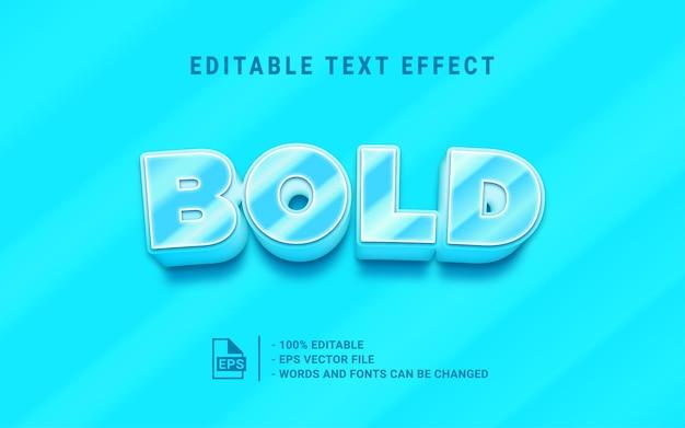 Effet de style de texte 3d audacieux