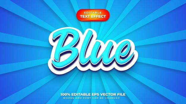 Effet de style de texte 3d bleu