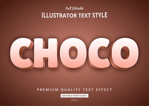 Effet de style de texte 3d choco