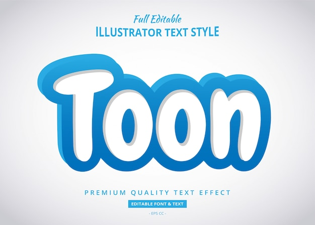 Effet de style de texte 3d dessin animé bleu