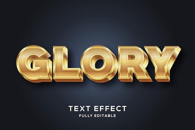Effet de style de texte 3d doré de luxe premium