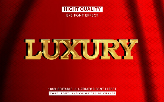 Effet de style de texte 3d doré de luxe