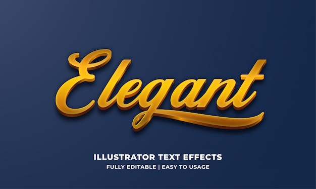 Effet de style de texte 3d élégant or