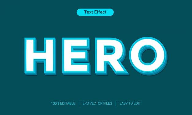 Effet de style de texte 3d héros