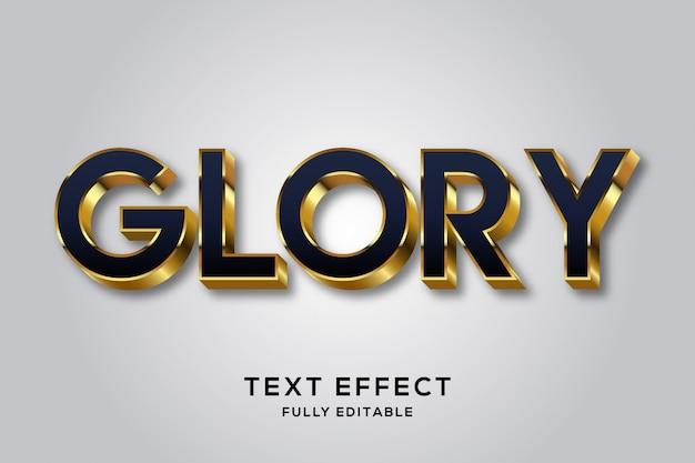 Effet de style de texte 3d de luxe noir et or premium