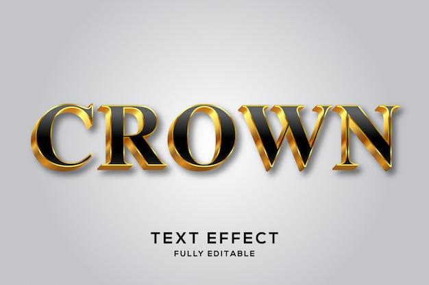 Effet de style de texte 3d luxe royal noir et or