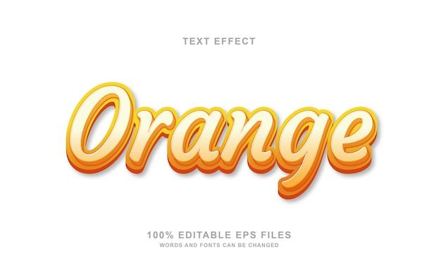 Effet de style de texte 3d orange