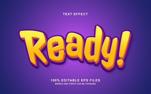 Effet de style de texte 3d prêt