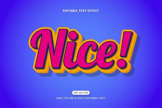 Effet de style de texte agréable coloré