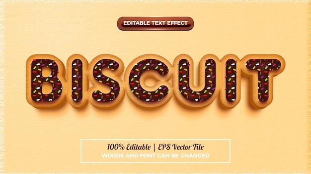 Effet De Style De Texte En Biscuit Modifiable Vecteur Premium