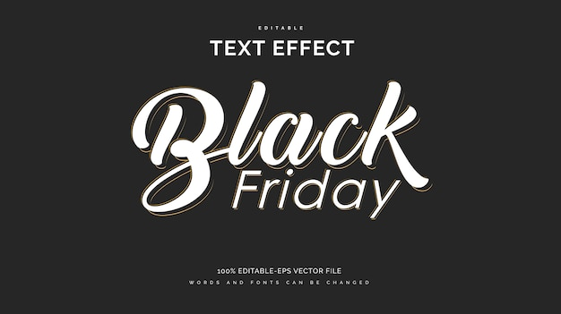 Effet de style de texte black friday