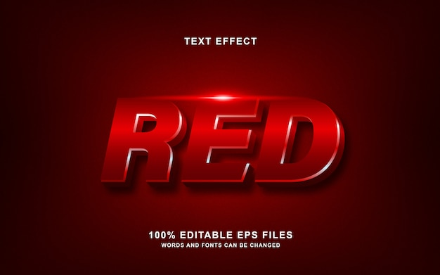 Effet de style de texte brillant rouge