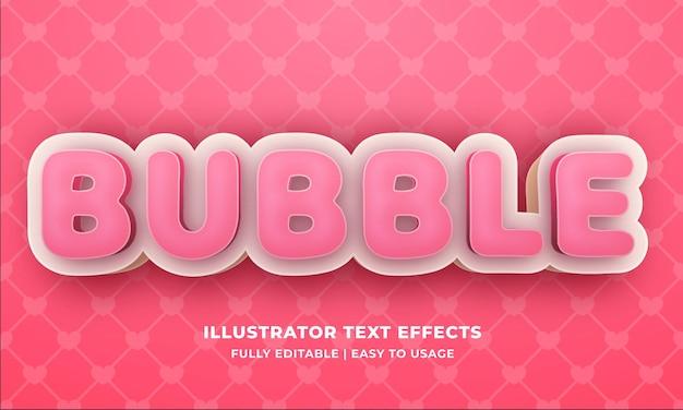 Effet de style de texte de bulle