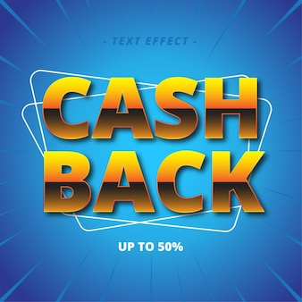 Effet de style de texte cash back