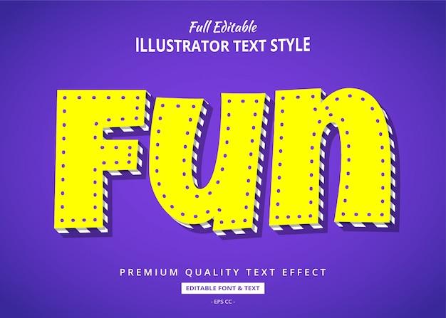Effet de style de texte comique de dessin animé amusant