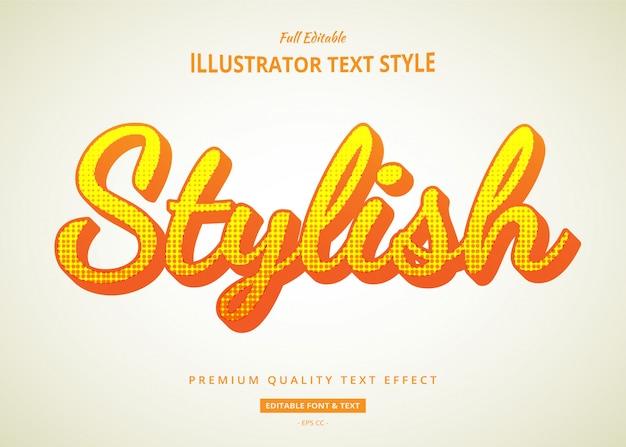 Effet de style de texte comique de dessin animé
