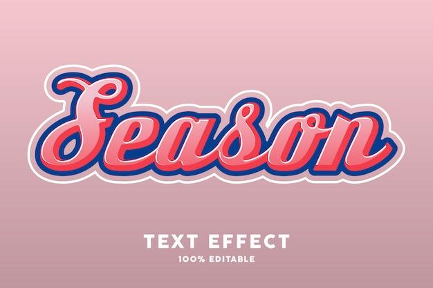 Effet de style de texte de couleur rétro saison rose