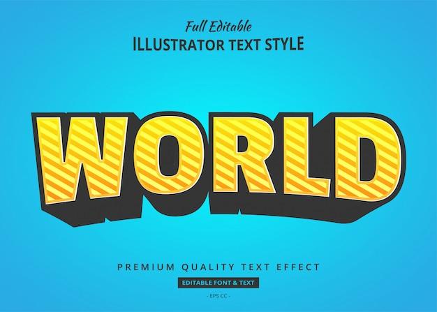 Effet de style de texte dépouillé de dessin animé
