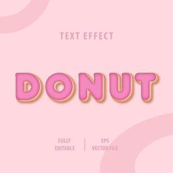 Effet de style de texte de dessert