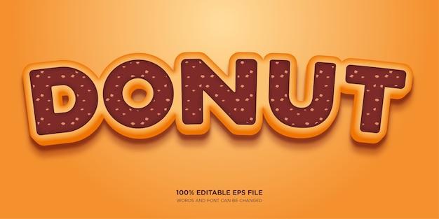 Effet de style de texte donut cake
