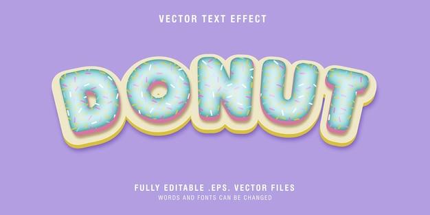 Effet de style de texte donut modifiable