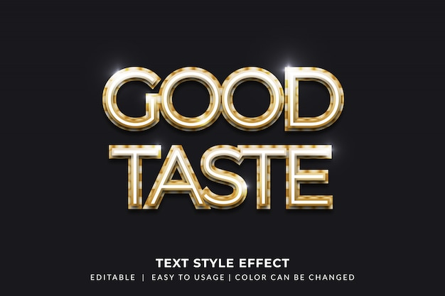 Effet de style de texte doré lumineux