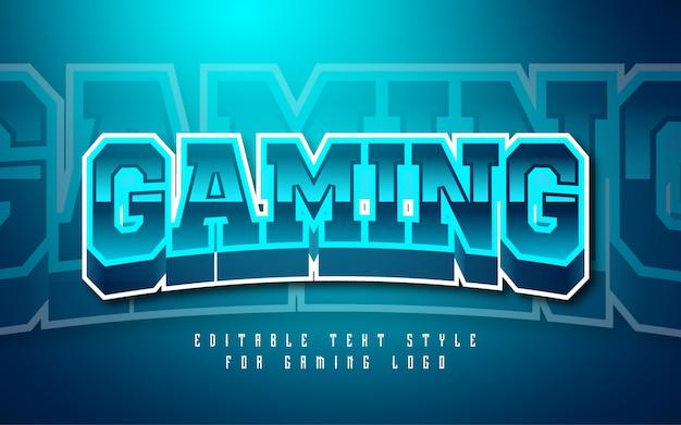 Effet de style de texte du logo de jeu