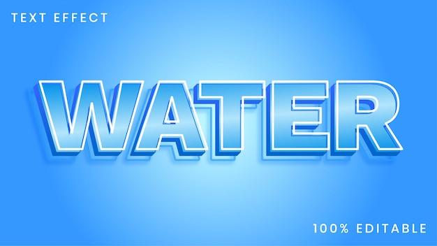 Effet de style de texte de l'eau