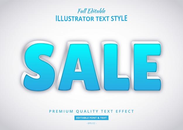 Effet de style de texte élégant de vente bleu