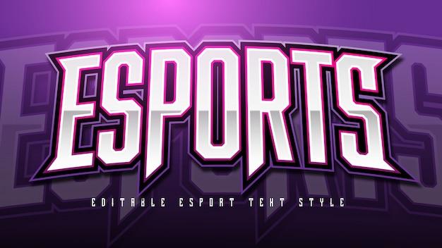 Effet style de texte esport
