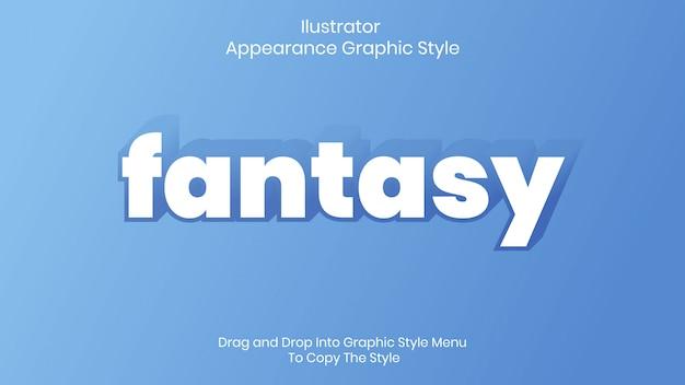 Effet de style de texte fantastique