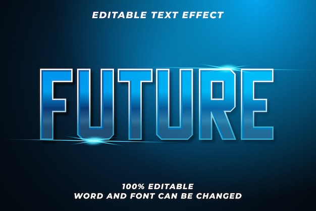 Effet de style de texte futur