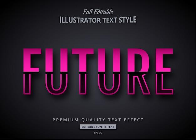 Effet de style de texte futuriste dégradé