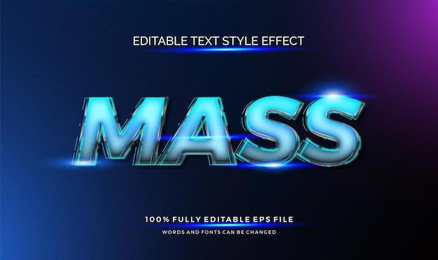 Effet de style de texte futuriste. texte modifiable
