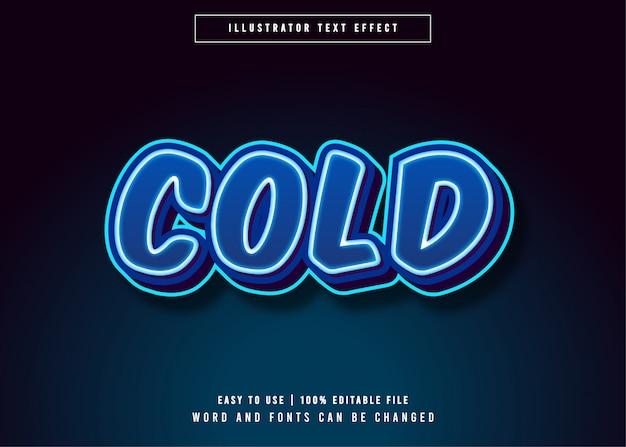 Effet de style de texte glacial froid