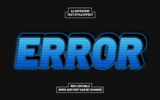 Effet de style de texte gras 3d d'erreur