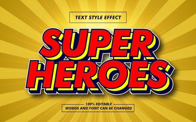 Effet de style de texte en gras super heroes