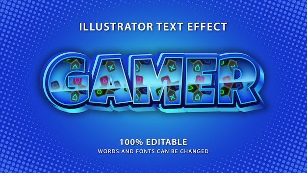 Effet de style de texte de joueur, texte modifiable